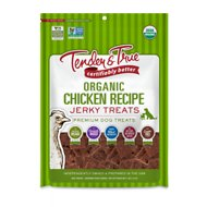 Tender & True Organic Chicken Jerky Dog Treats, 4-oz bag