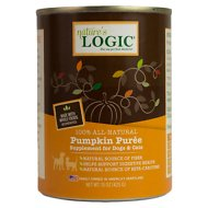 Nature's Logic Pumpkin Purée Dog & Cat Food Supplement, 15-oz, case of 12