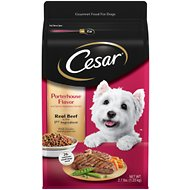 Cesar Porterhouse Flavor & Spring Vegetables Garnish Small Breed Dry Dog Food, 2.7-lb bag