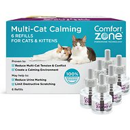 Comfort Zone Calming Multi-Cat Diffuser Refill, 6 count