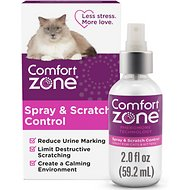 Comfort Zone Spray & Scratch Control Calming Cat Spray, 2-oz