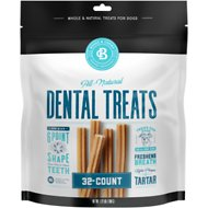 Bones & Chews All-Natural Dental Chew Sticks, 32 count
