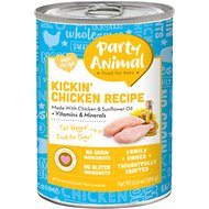 Party Animal Kickin' Chicken Recipe Grain-Free Canned Dog Food, 13-oz, case of 12