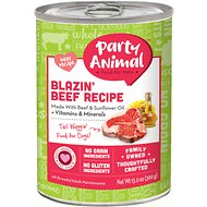 Party Animal Blazin' Beef Recipe Grain-Free Canned Dog Food, 13-oz, case of 12