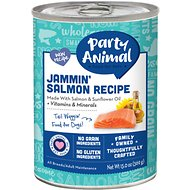 Party Animal Jammin' Salmon Recipe Grain-Free Canned Dog Food, 13-oz, case of 12