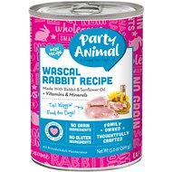 Party Animal Wascal Rabbit Recipe Grain-Free Canned Dog Food, 13-oz, case of 12