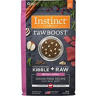 Instinct by Nature's Variety Raw Boost Small Breed Grain-Free Recipe with Real Beef Dry Dog Food, 4-lb bag