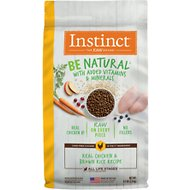 Instinct by Nature's Variety Be Natural Real Chicken & Brown Rice Recipe Dry Dog Food, 12-lb bag