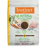 Instinct by Nature's Variety Be Natural Real Chicken & Brown Rice Recipe Dry Dog Food, 25-lb bag