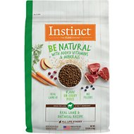 Instinct by Nature's Variety Be Natural Real Lamb & Oatmeal Recipe Dry Dog Food, 12-lb bag