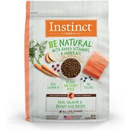 Instinct by Nature's Variety Be Natural Real Salmon & Brown Rice Recipe Dry Dog Food, 24-lb bag