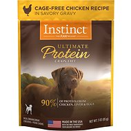 Instinct by Nature's Variety Ultimate Protein Grain-Free Cage-Free Chicken Recipe Wet Dog Food Topper, 3-oz, case of 24