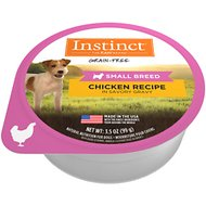 Instinct by Nature's Variety Original Small Breed Grain-Free Real Chicken Recipe Wet Dog Food Cups, 3.5-oz, case of 12