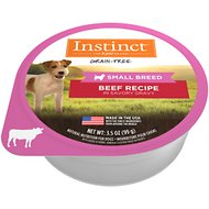 Instinct by Nature's Variety Original Small Breed Grain-Free Real Beef Recipe Wet Dog Food Trays, 3.5-oz, case of 12