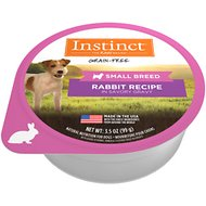 Instinct by Nature's Variety Original Small Breed Grain-Free Real Rabbit Recipe Wet Dog Food Cups, 3.5-oz, case of 12