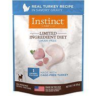 Instinct by Nature's Variety Limited Ingredient Diet Grain-Free Real Turkey Recipe Wet Dog Food Topper, 3-oz pouch, case of 24
