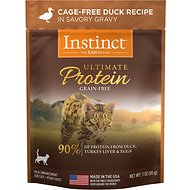 Instinct by Nature's Variety Ultimate Protein Grain-Free Cage-Free Duck Recipe Wet Cat Food Topper, 3-oz pouch, case of 24