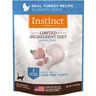 Instinct by Nature's Variety Limited Ingredient Diet Grain-Free Real Turkey Recipe Wet Cat Food Topper, 3-oz pouch, case of 24