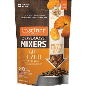 Instinct Freeze Dried Raw Boost Mixers Gut Health Recipe Dog Food Topper