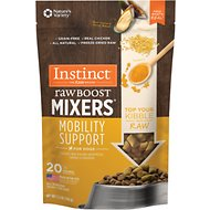 Instinct by Nature's Variety Freeze Dried Raw Boost Mixers Grain-Free Mobility Support Recipe Dog Food Topper, 5.5-oz bag