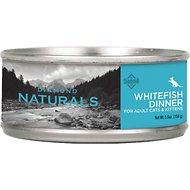 Diamond Naturals Whitefish Dinner Adult & Kitten Canned Cat Food, 5.5-oz, case of 24