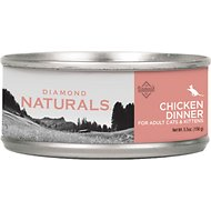 Diamond Naturals Chicken Dinner Adult & Kitten Canned Cat Food, 5.5-oz, case of 24