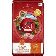 Purina ONE SmartBlend Healthy Weight Adult Formula Dry Dog Food, 40-lb bag