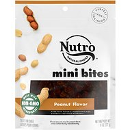 Nutro Mini Bites Peanut Flavor Dog Treats, 8-oz bag