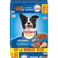 Kibbles 'n Bits Original Savory Beef & Chicken Flavors Dry Dog Food, 50-lb bag