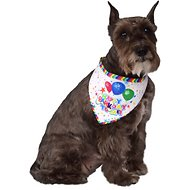 Rubie's Costume Company Reversible Barkday Dog Bandana, Medium/Large
