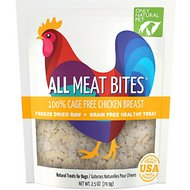 Only Natural Pet All Meat Bites Chicken Grain-Free Freeze-Dried Dog Treats, 2.5-oz bag
