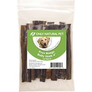 Only Natural Pet Free-Range Bully Stick Dog Chew, 4-in, 10 count