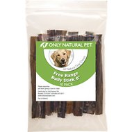 Only Natural Pet Free-Range Bully Stick Dog Chew, 6-in, 10 count