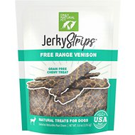 Only Natural Pet Jerky Strips Venison Grain-Free Dog Treats, 6-oz bag