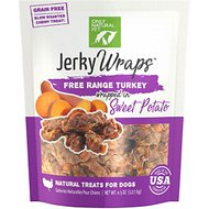 Only Natural Pet Jerky Wraps Turkey & Sweet Potato Grain-Free Dog Treats, 4.5-oz bag