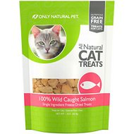 Only Natural Pet Wild Caught Salmon Grain-Free Freeze-Dried Cat Treats, 1.3-oz bag