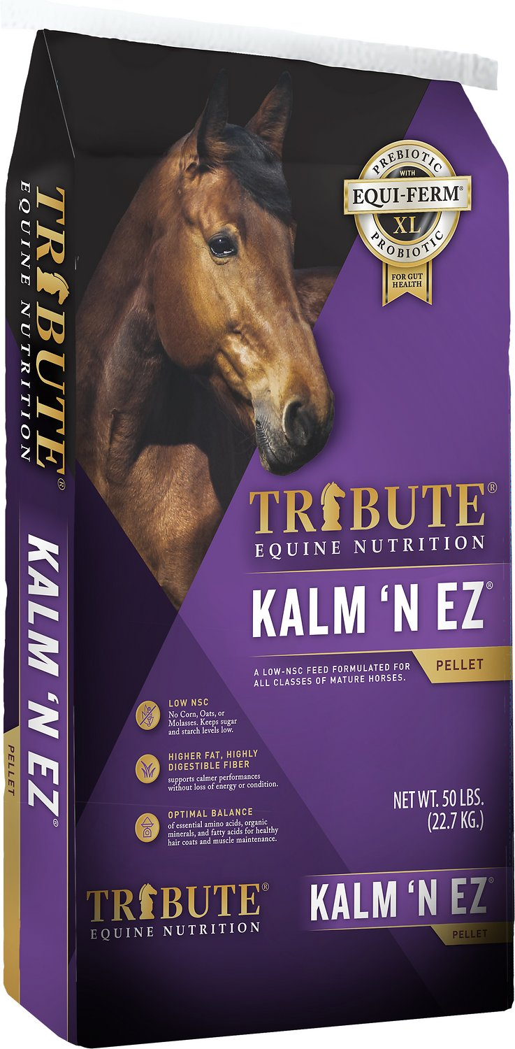 Tribute Equine Nutrition Kalm N' EZ Horse Feed, 50-lb bag
