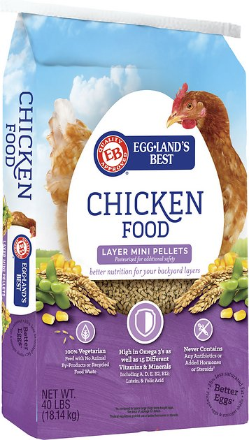 Egglands Best Layer Mini Pellets Chicken Food 40 Lb Bag Chewy