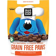 Blue Dog Bakery Grain-Free Paws Peanut Butter & Molasses Flavor Dog Treats, 24-oz bag