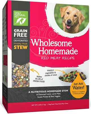 Only Natural Pet Wholesome Homemade Red Meat Recipe Grain-Free Dehydrated Dog Food