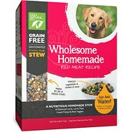 Only Natural Pet Wholesome Homemade Red Meat Recipe Grain-Free Dehydrated Dog Food, 6-lb box