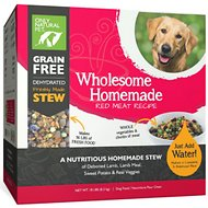 Only Natural Pet Wholesome Homemade Red Meat Recipe Grain-Free Dehydrated Dog Food, 18-lb box