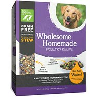 Only Natural Pet Wholesome Homemade Poultry Recipe Grain-Free Dehydrated Dog Food, 6-lb box