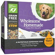 Only Natural Pet Wholesome Homemade Poultry Recipe Grain-Free Dehydrated Dog Food, 18-lb box