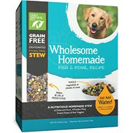 Only Natural Pet Wholesome Homemade Fish & Fowl Recipe Grain-Free Dehydrated Dog Food, 6-lb box