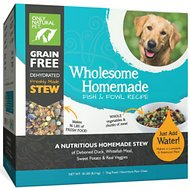 Only Natural Pet Wholesome Homemade Fish & Fowl Recipe Grain-Free Dehydrated Dog Food, 18-lb box