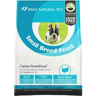 Only Natural Pet Canine PowerFood Small Breed Feast Grain-Free Dry Dog Food, 4.5-lb bag