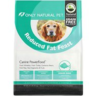 Only Natural Pet Canine PowerFood Reduced Fat Feast Grain-Free Dry Dog Food, 22.5-lb bag
