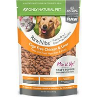 Only Natural Pet RawNibs Chicken & Liver Grain-Free Freeze-Dried Dog & Cat Food, 10-oz bag