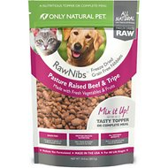 Only Natural Pet RawNibs Beef & Tripe Grain-Free Freeze-Dried Dog & Cat Food, 10-oz bag